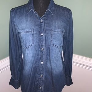 Denim Botton-down Shirt